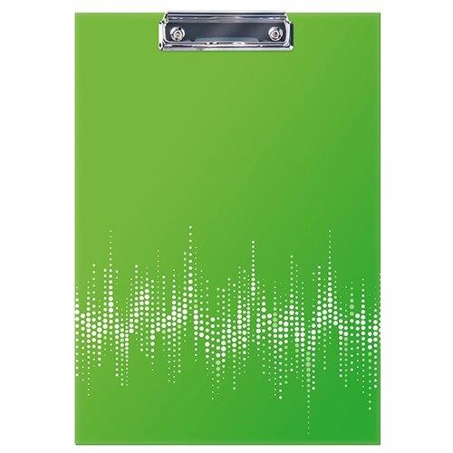 Купить Berlingo Папка-планшет с зажимом Neon А4, ламинированный картон Неоновый зеленый, Файлы и папки