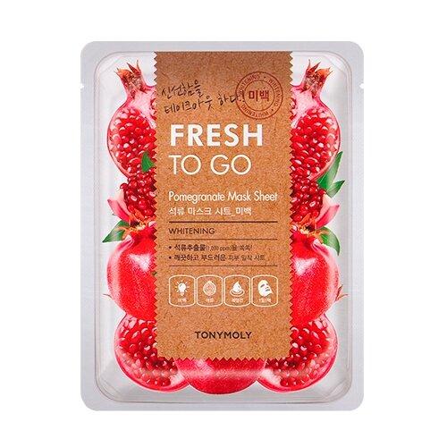 TONY MOLY Fresh To Go Pomegranate Mask Sheet Отбеливающая тканевая маска с экстрактом граната, 25 г