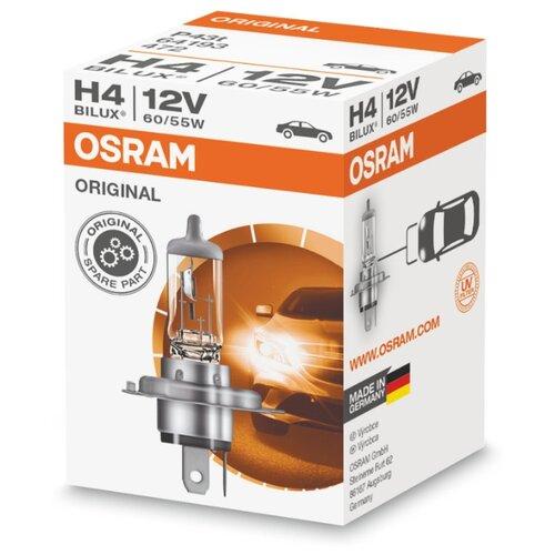 Лампа автомобильная галогенная Osram Original line 64193 H4 60/55W 1 шт. лампа галогенная osram h11 original 12v 55w 1 шт