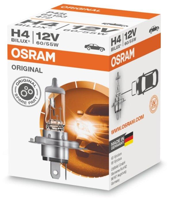 Лампа автомобильная галогенная Osram Original line 64193CLC H4 60/55W 1 шт. — купить по выгодной цене на Яндекс.Маркете