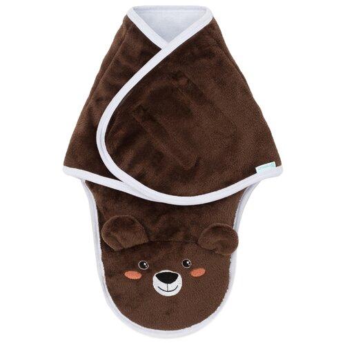 Купить Конверт-одеяло Крошка Я Бурый мишка 75 см коричневый, Конверты и спальные мешки