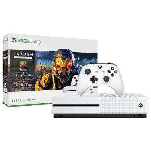 Купить Игровая приставка Microsoft Xbox One S 1 ТБ белый + Anthem