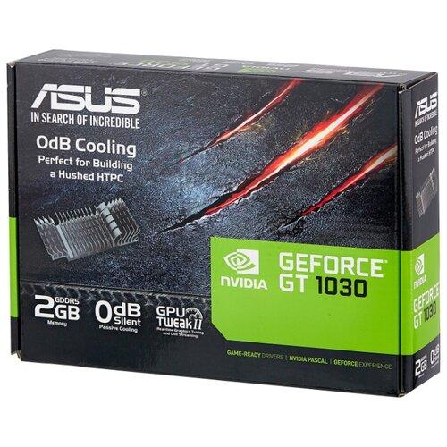 Видеокарта ASUS GeForce GT 1030 1228MHz PCI-E 3.0 2048MB 6008MHz 64 bit DVI HDMI HDCP Silent Retail