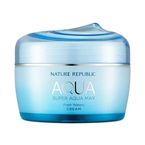NATURE REPUBLIC AQUA Super Aqua Max Fresh Watery Cream Крем для лица увлажняющий, 80 мл apieu aqua nature тоник