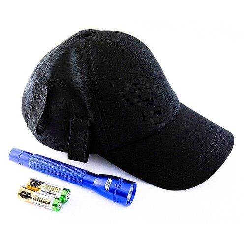 Ручной фонарь SOLARIS F-5 с бейсболкой черный/синий