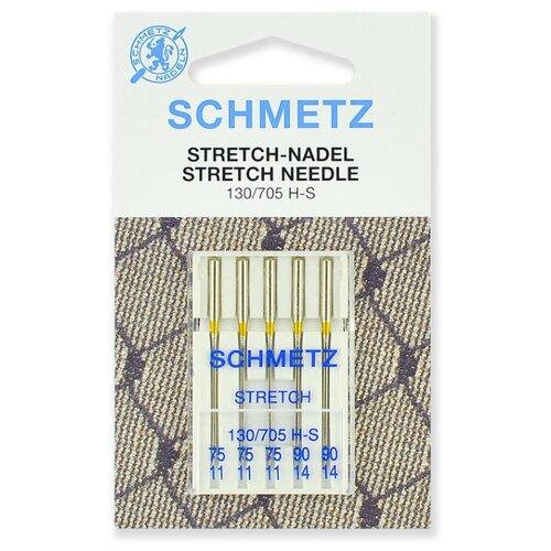 Игла/иглы Schmetz Stretch 130/705 H-S серебристый