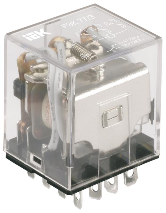 Промежуточное реле IEK RRP10-4-10-024A-LED