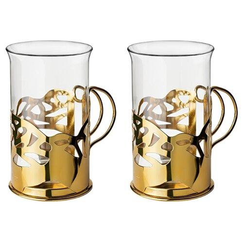 цена на Apollo Набор стаканов Cite 2 шт 250 мл gold