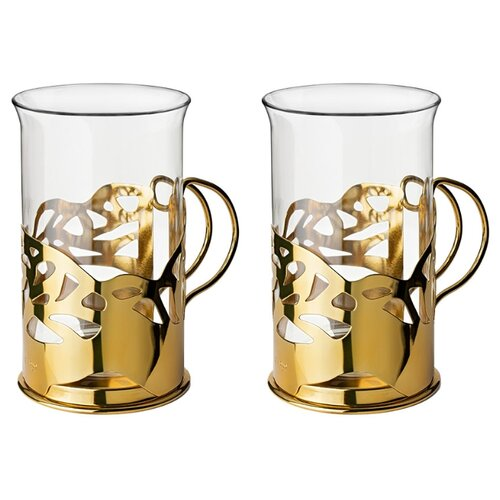 цена Apollo Набор стаканов Cite 2 шт 250 мл gold онлайн в 2017 году