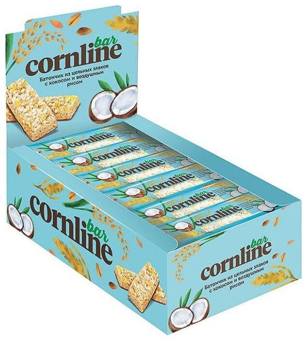 Злаковый батончик Cornline с кокосом и воздушным рисом, 18 шт