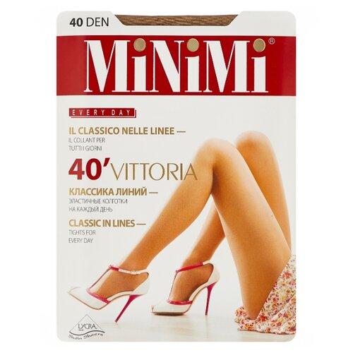 Колготки MiNiMi Vittoria 40 den, размер 5-XL, caramello (бежевый) колготки minimi avanti 40 den размер 5 xl caramello бежевый