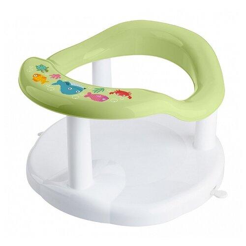 Сиденье для купания Пластишка с декором зеленый горки и сиденья для ванн пластишка сиденье для купания детей с декором