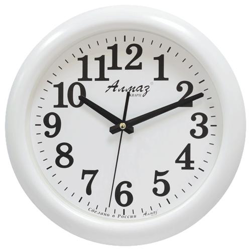 Часы настенные кварцевые Алмаз H02 белыйЧасы настенные<br>
