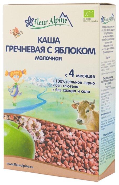 Каша Fleur Alpine молочная гречневая с яблоком (с 4 месяцев) 200 г