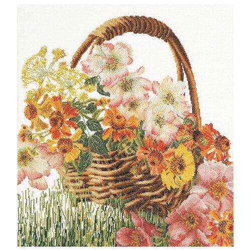 Купить Набор для вышивания Цветочная корзина, канва лён 36 ct, Thea Gouverneur, Наборы для вышивания
