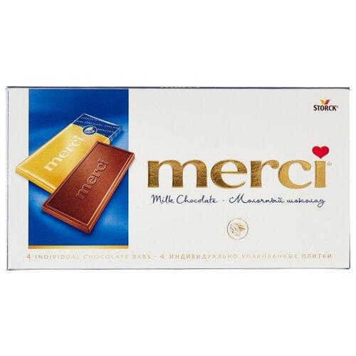 Фото - Шоколад Merci молочный порционный, 100 г шоколад молочный icam 100 г