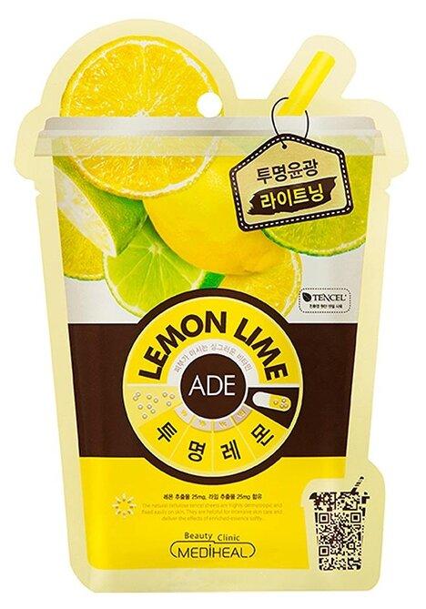 MEDIHEAL тканевая витаминная маска Lemon Lime Ade