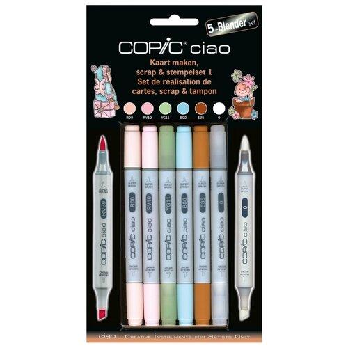 Купить COPIC набор маркеров Ciao Scrap & Stempelset 1 (H22075559) + блендер, Фломастеры и маркеры