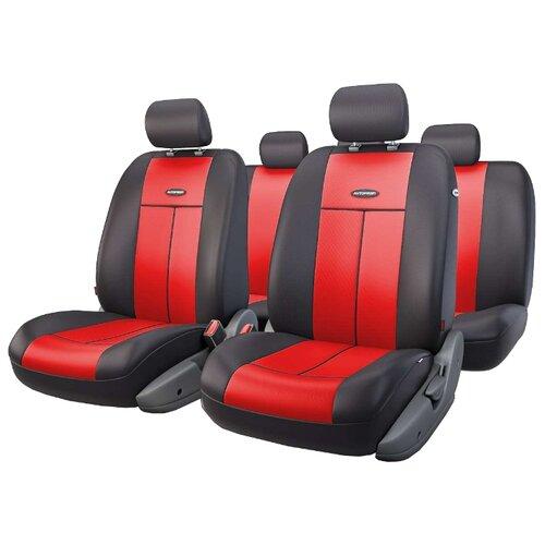 Комплект чехлов AUTOPROFI TT-902P красный/черный