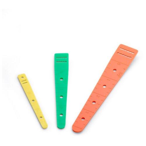 Prym Приспособление для протягивания резинок и шнуров, 3 шт. оранжевый/зеленый/желтый шторы рулонные ролло идея рулонная штора ролло lux samba цветы зеленый оранжевый желтый 160 см