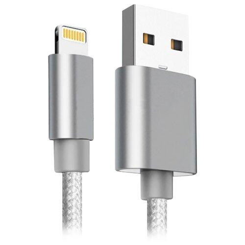 Кабель Ginzzu USB - Lightning (GC-555UW) 1 м белыйКомпьютерные кабели, разъемы, переходники<br>