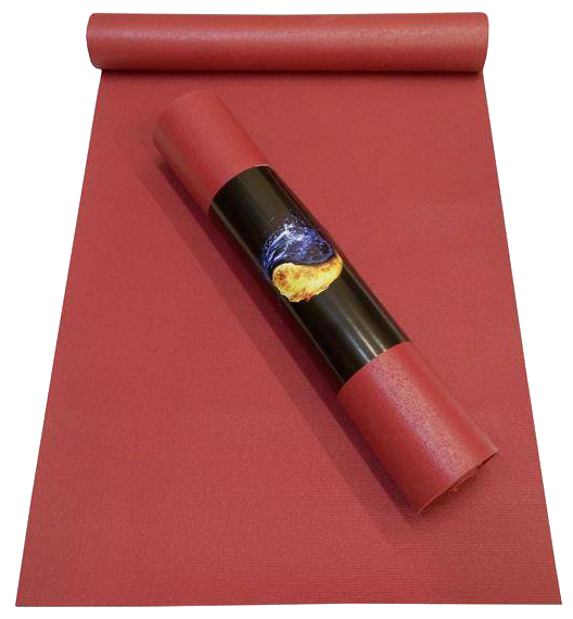 Коврик для йоги Ako-Yoga Yin-Yang Studio, цвет: бордо, 200 х 80 см