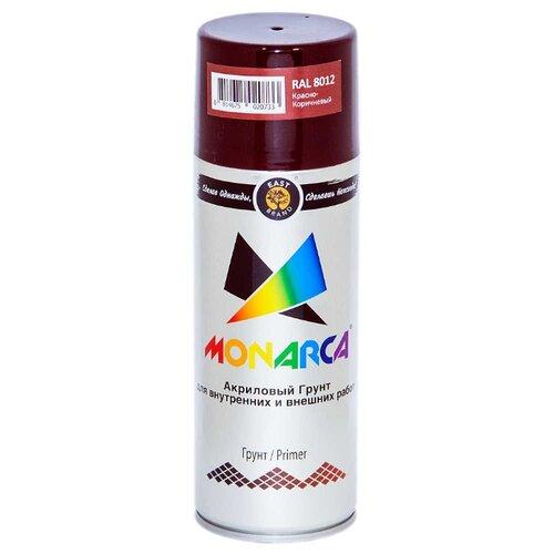 Аэрозольный грунт-праймер Eastbrand Monarca RAL 8012 - Красно-коричневый 0.5 л