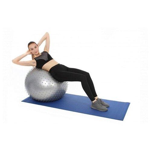 Фото - Мяч для фитнеса антивзрыв с насосом, 85 см (арт. SF 0381) мяч для фитнеса bradex фитбол 75 с насосом sf 0187