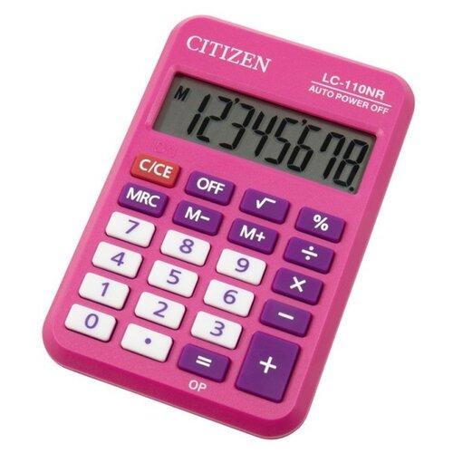 Калькулятор карманный CITIZEN LC-110NR розовый