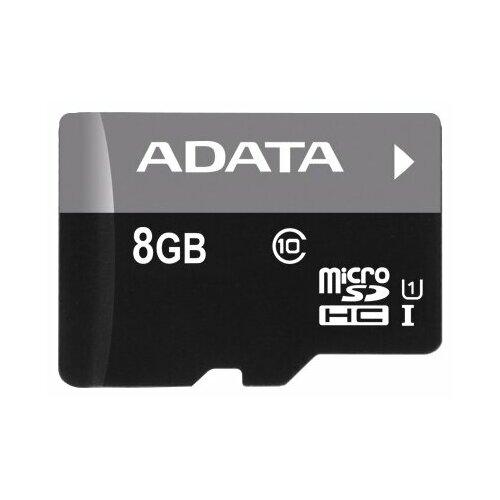Фото - Карта памяти ADATA Premier microSDHC Class 10 UHS-I U1 8 GB a data карта памяти 16gb premier a1 microsdhc uhs i class 10 adata 90 25 mb s с адаптером