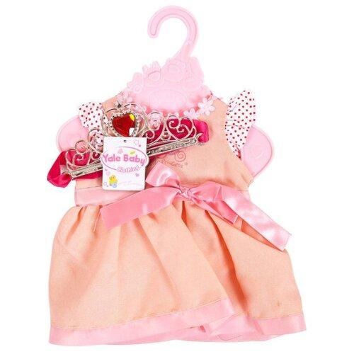 Купить Junfa toys Платье с поясом и короной BLC18-B розовый, Одежда для кукол