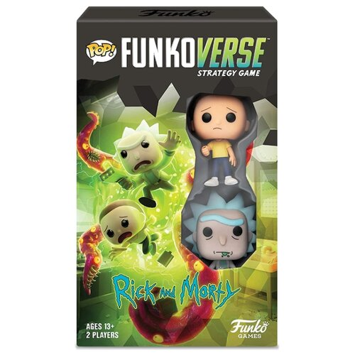 фигурка funko pop vinyl rick and morty 10 rick 47379ie Настольная игра Funko POP! Funkoverse: Rick and Morty 42634