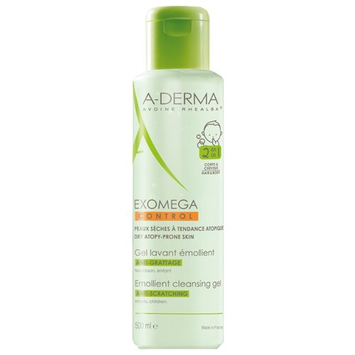 A-Derma Exomega Control Смягчающий очищающий гель 2 в 1 500 мл derma косметика