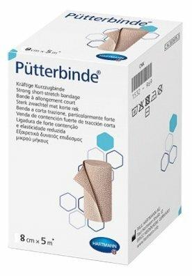 Putterbinde / Пюттербинт - бинт эластичный, среднерастяжимый, 8 см х 5 м