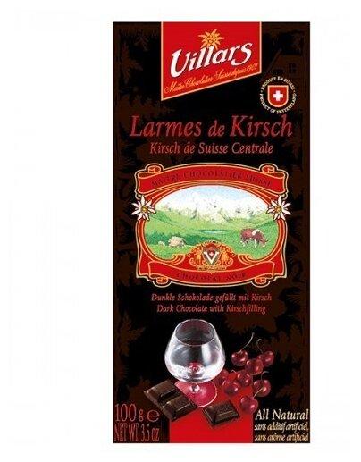 Шоколад Villars Larmes de Kirsch тёмный с вишнёвым бренди