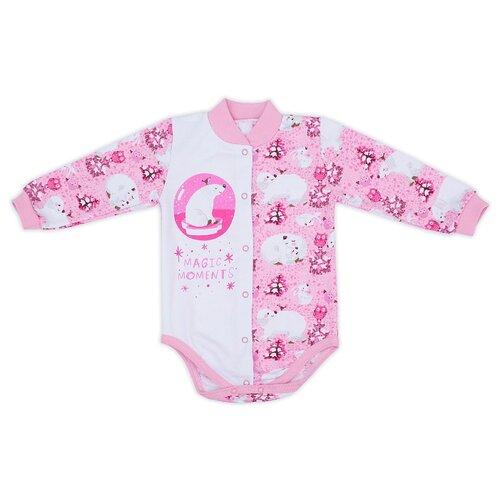 Купить Боди Babyglory размер 68, розовый