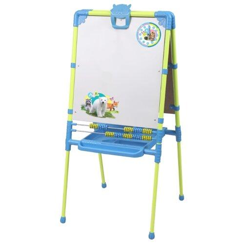 Купить Мольберт детский Nika к комплекту детской мебели Пушистая азбука (М2/ПА) зеленый/синий, Доски и мольберты