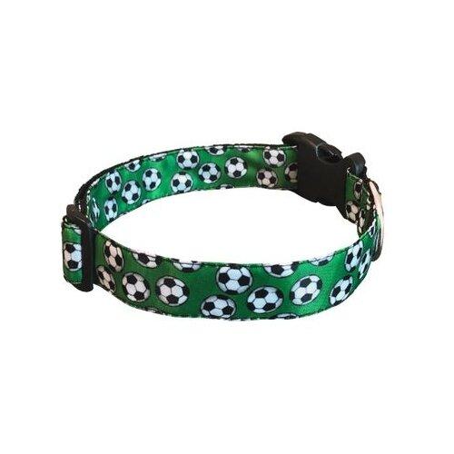Ошейник PerseiLine Дизайн футбол ОДФ-2 26-45 см зеленый значок зеленый футбол