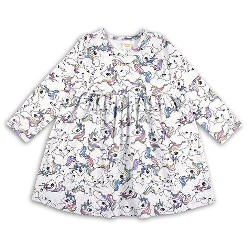 Платье Веселый Малыш размер 86, серый/единорог