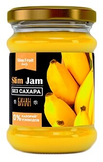 Джем Slim Fruit Family Банан без сахара, банка 250 мл