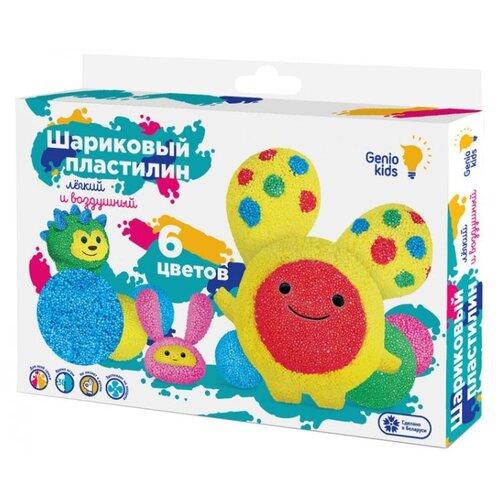 Купить Шариковый пластилин Genio Kids 6 цветов (TA1802), Пластилин и масса для лепки