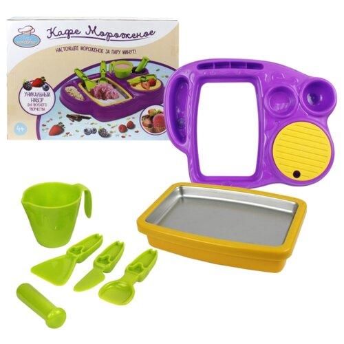 Фото - Набор посуды 1 TOY Шеф-кондитер Кафе мороженое T14362 зеленый/желтый/фиолетовый игровой набор bondibon кафе гамбургерная вв3699 желтый зеленый
