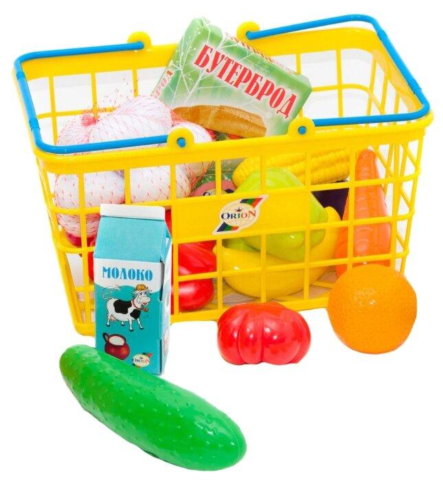 Набор продуктов с посудой Orion Toys Фрукты и овощи в корзинке 379в5 фото 1