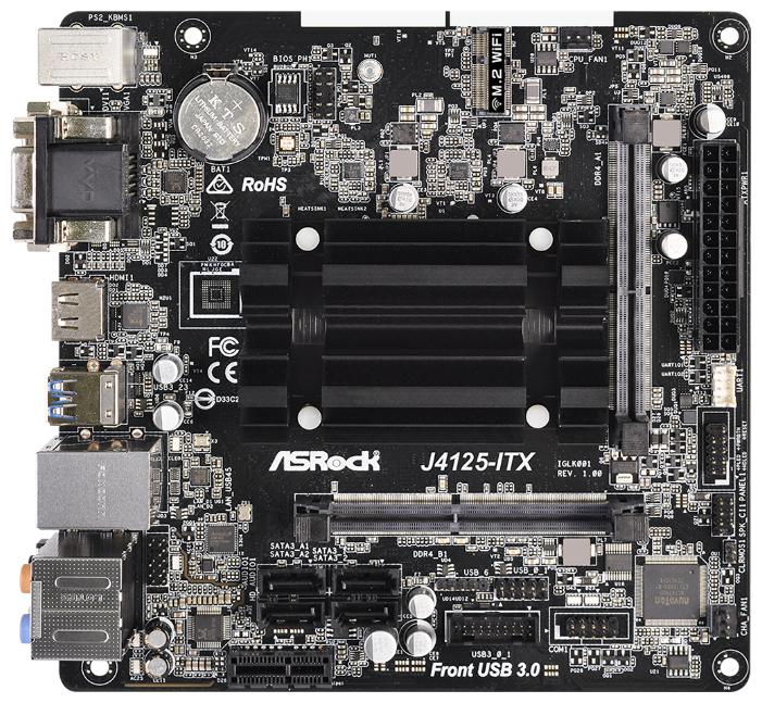 Материнская плата ASRock J4125-ITX — купить по выгодной цене на Яндекс.Маркете