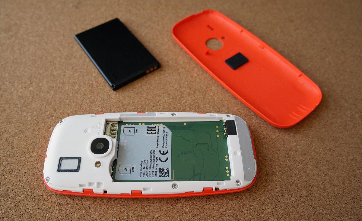 Nokia 3310 2017 в разобранном виде. отзыв