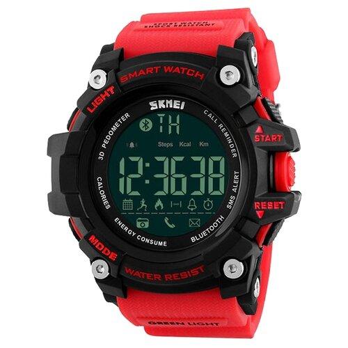 Умные часы SKMEI 1227, красный/черный