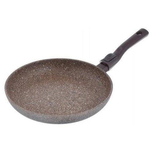 Сковорода TimA TVS art granit AT-1028, 28 см, съемная ручка, коричневый сковорода tima мускат 28108i 28 см съемная ручка коричневый
