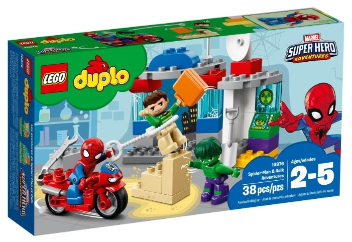Конструктор LEGO Duplo 10876 Приключения Халка и Человека-паука