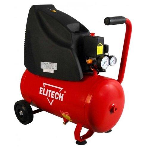 цена на Компрессор безмасляный ELITECH КПБ 190/24+4К, 24 л, 1.5 кВт