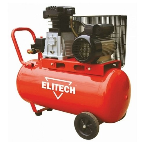 Компрессор масляный ELITECH КПР 100/360/2.2, 100 л, 2.2 кВт компрессор масляный elitech кпм 360 25 25 л 2 2 квт